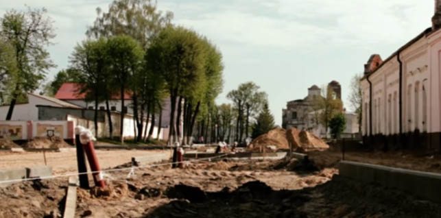 Работы в Мстиславле идут полным ходом. Видео